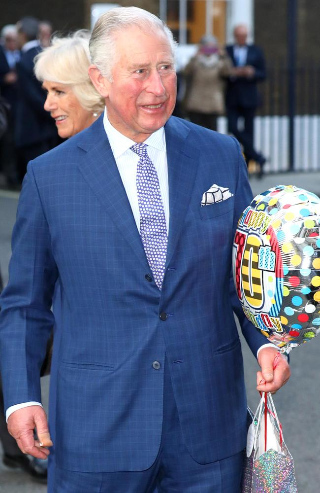 Birthday boy! Prince Charles with Camilla. Picture: Getty Images