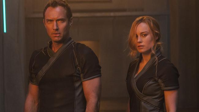 Captain Marvel also stars Jude Law as a Kree military commander (Chuck Zlotnick/Disney-Marvel Studios via AP)