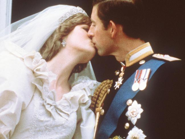 """Princess Diana's dress designer said she was """"horrified"""" it got creased as she made her way to the wedding. Picture: AFP/POOL."""