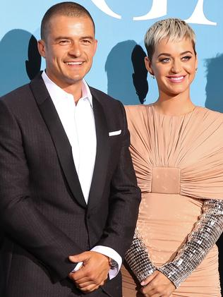 British actor Orlando Bloom (L) and US singer Katy Perry. Picture: AFP