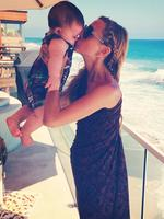 """Celebrity stylist Rachel Zoe with son Kaius Jagger, """"Happy 7 month birthday to my angel ..."""" Picture: Instagram"""