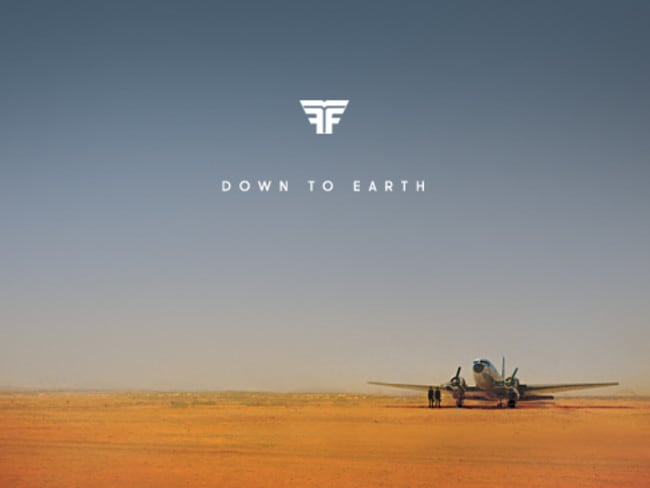In top 50 most blogged about in 2014 ... Flight Facilities' Down to Earth album cover.