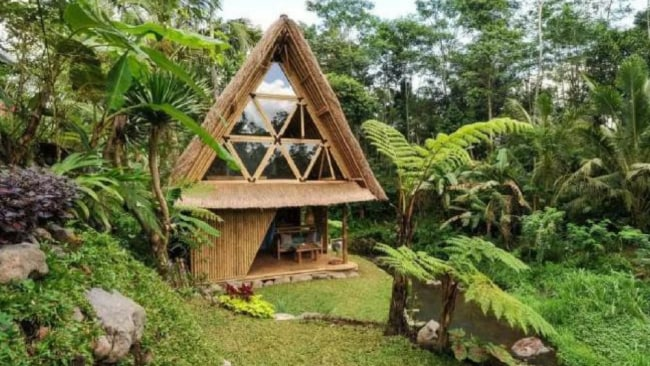 Hide-out Bali Eco Bamboo Home. Photo: Airbnb/Supplied