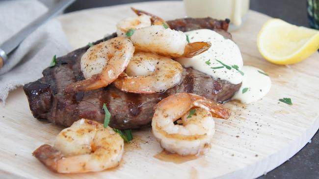 Surf and turf is the perfect excuse to get that BBQ cranking. Credit: BestRecipesTeam