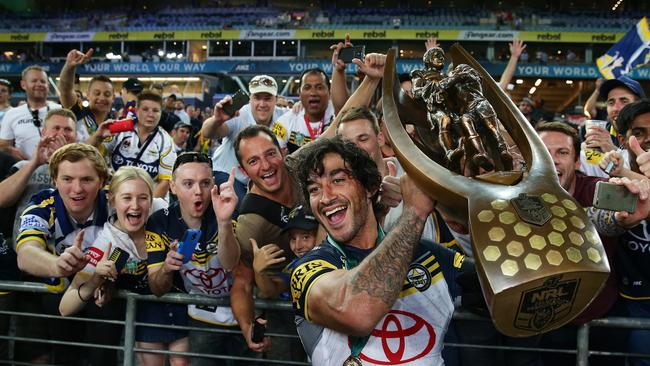 Fans have sent in their tributes to retiring champion Johnathan Thurston. Picture: Brett Costello