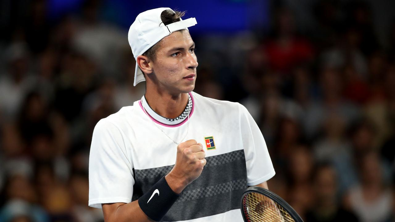 Alexei Popyrin is through to the third round. (Photo by Mark Kolbe/Getty Images)