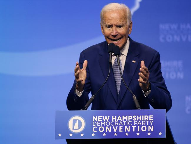 Democratic presidential candidate former Vice President Joe Biden. Picture: AP