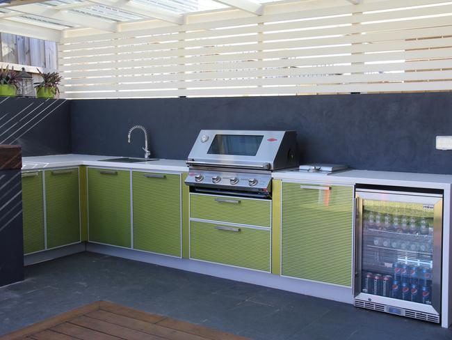 An existing alfresco area makes it easier to build an outdoor kitchen. Picture: Kastell Kitchens.