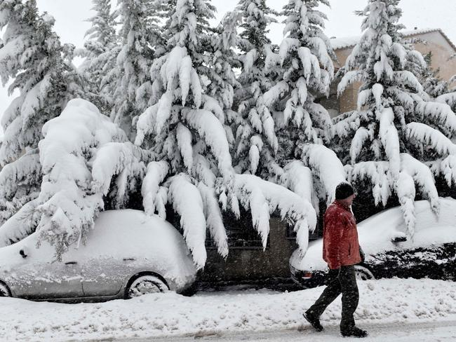 Snowfall in Northern Greece. Picture: AFP PHOTO / SAKIS MITROLIDIS