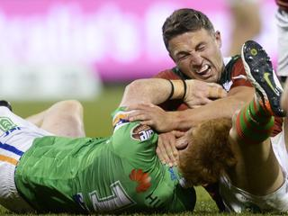 Souths edge Raiders in fiery battle to steal top spot
