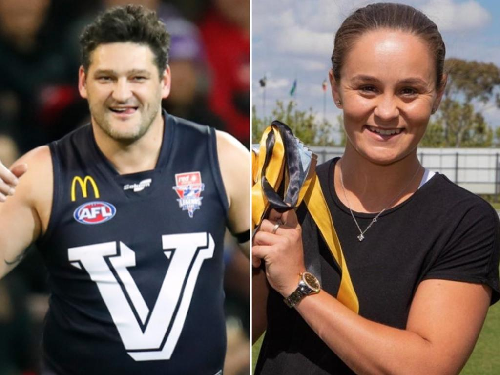 Brendan Fevola has taken issue with Ash Barty presenting the premiership cup.