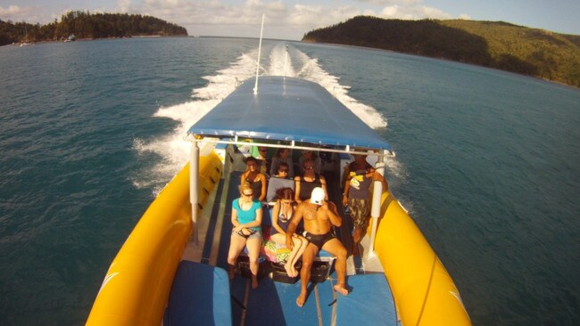 Check out Whitehaven Beach aboard a motorised raft on this full-day tour.