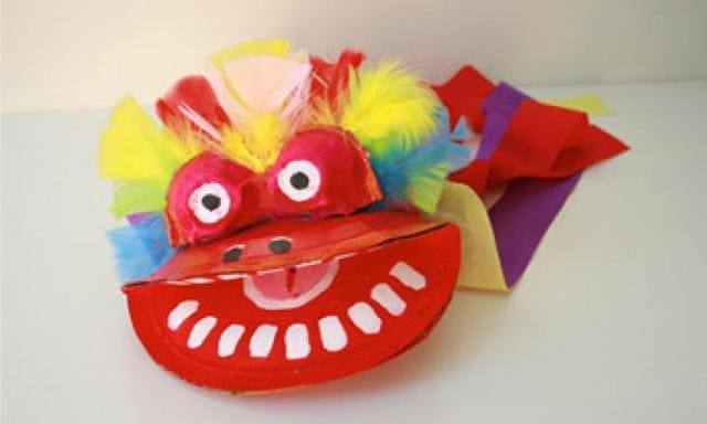Make a puppet: Chinese dragon