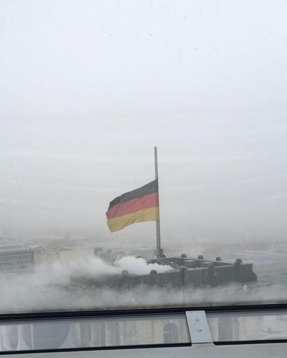 GERMANY: Flags Fly Half Mast Atop the Reichstag to Honor Truck Attack Victims December 20