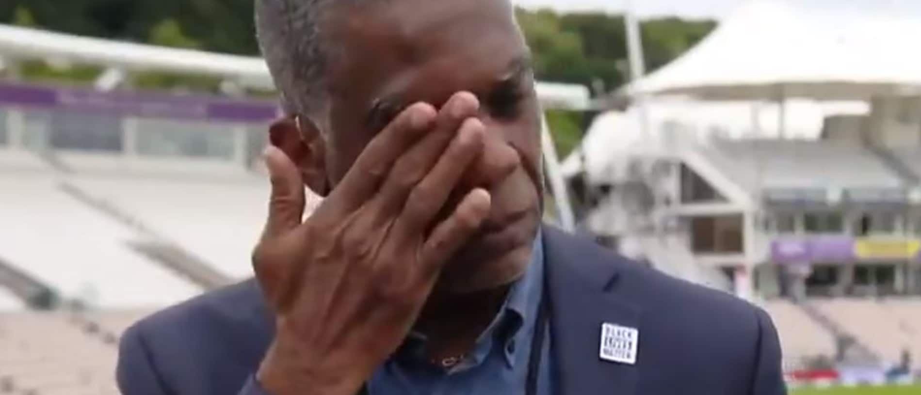 Michael Holding couldn't hold back the tears.