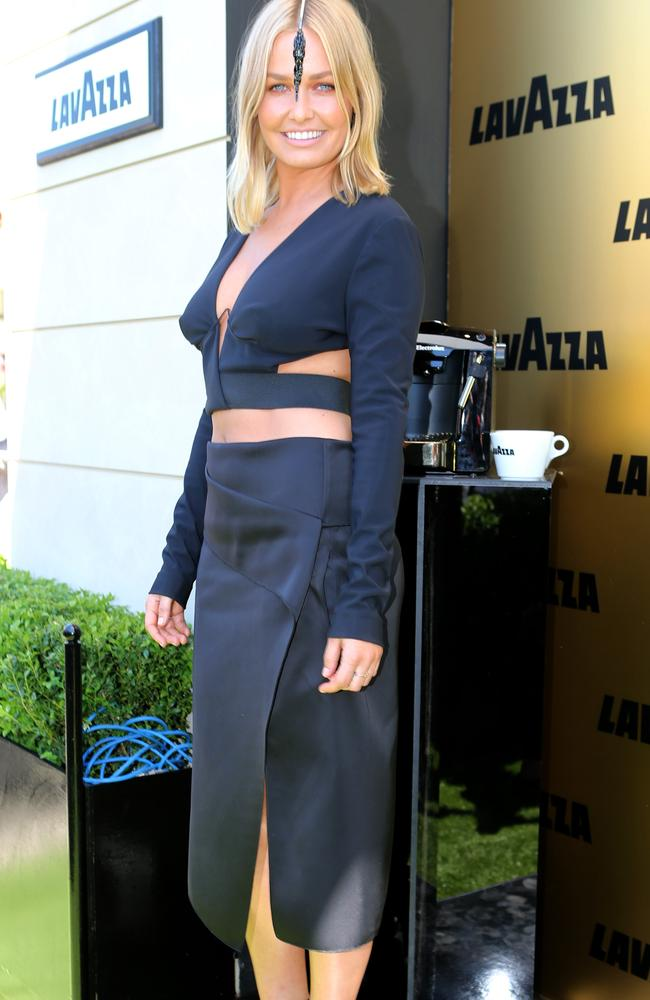 Lara Bingle's outfit at Derby Day last year wasn't well received. Picture by Julie Kiriacoudis