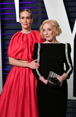 Sarah Paulson and her partner Holland Taylor attend the 2019 Vanity Fair Oscar Party hosted by Radhika Jones at Wallis Annenberg Center for the Performing Arts on February 24, 2019 in Beverly Hills, California. (Photo by Dia Dipasupil/Getty Images)