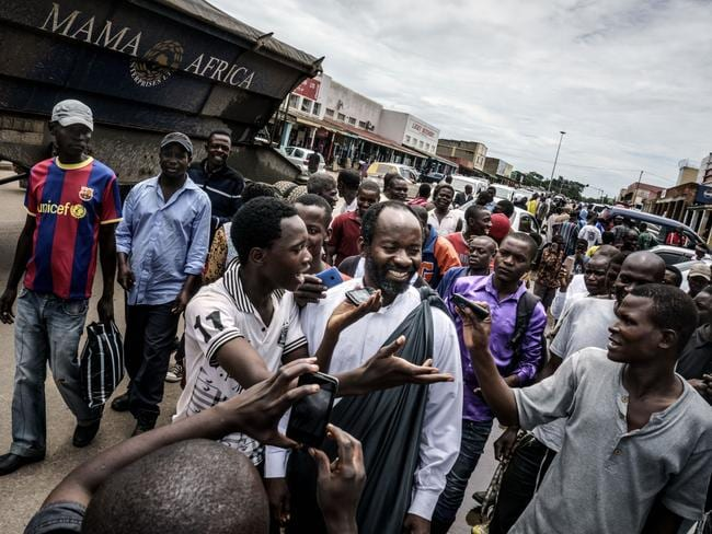 Taxi driver Jesus of Kitwe aka Mr Word of God spread his Gospel around the Zambian markets. Picture: Jonas Bendiksen / Magnum Photos / Snapper Media