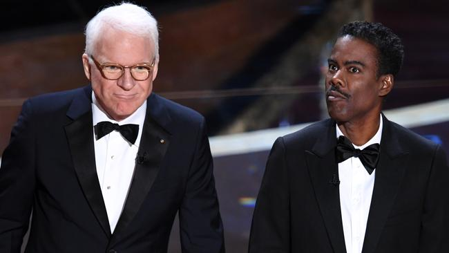 Steve Martin and Chris Rock. Picture: Kevin Winter/Getty Images