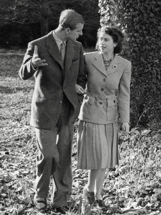 Queen Elizabeth and husband Prince Philip on their honeymoon in 1947.