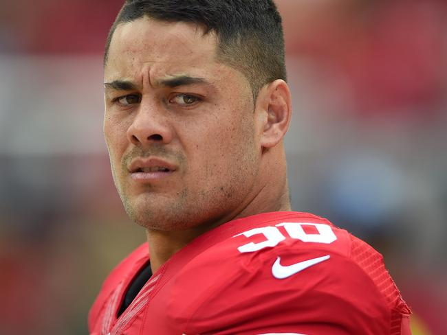 Jarryd Hayne struggled to make his NFL dreams a reality, and the final chapter may turn out to be a permanent stain of his character. Picture: Thearon W. Henderson/Getty Images