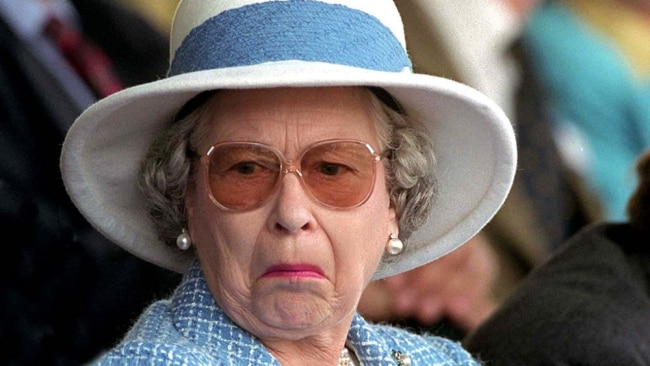 Lord knows what Queen Liz thinks of this. Image: Getty