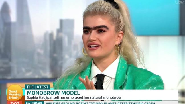 She hopes her #unibrowmovement and body positive message will inspire others. Picture: ITV
