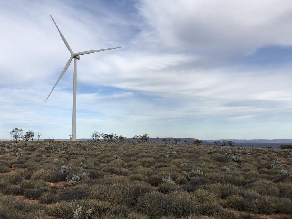 A wind farm on the Eyre Peninsula. Picture: Supplied