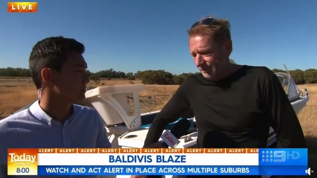 The man named James spoke with reporter Kamin Gock. Picture: Nine News