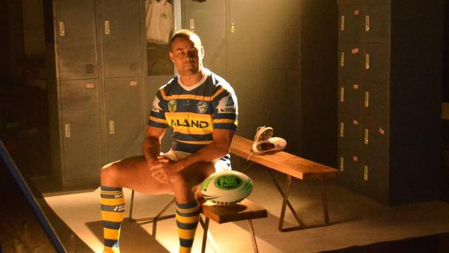 Hayne poses for a promo shot for Fox League.