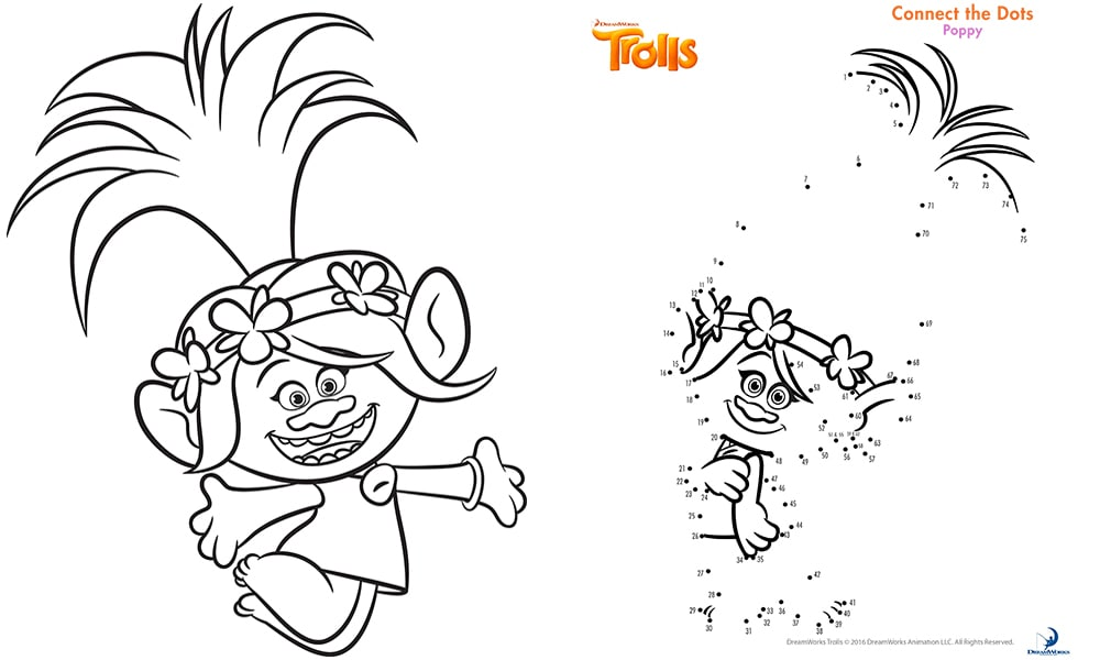 image relating to Trolls Printable known as Trolls online video sport sheets: Absolutely free printables, colouring