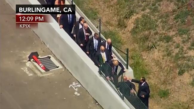 Trump forced to use alternate entrance