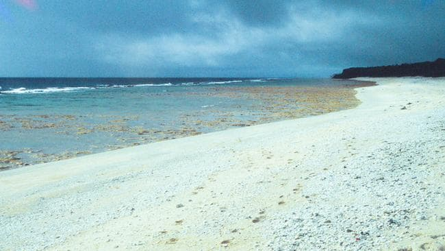 Henderson Island before rubbish was dumped on the shore. Picture: Supplied/Marshall Weister