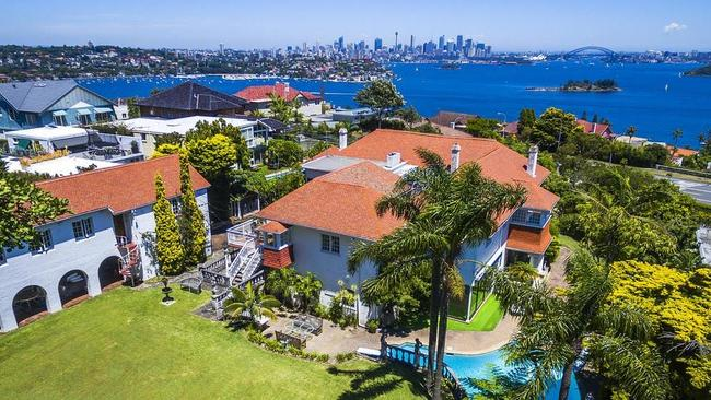 The property on New South Head Rd has some of Sydney's best harbour views.