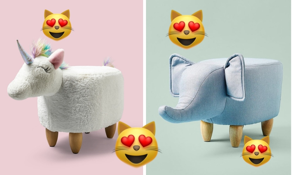 Big W has released new ottomans for your unicorn and dinosaur-obsessed kid