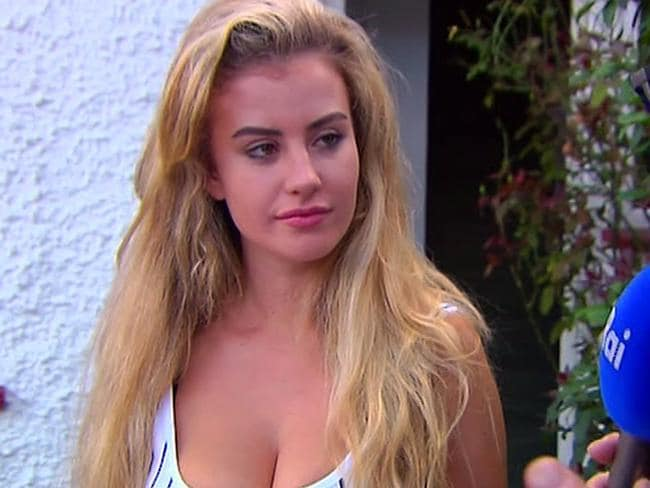 In this image made from video taken on Sunday, August 6, 2017, model Chloe Ayling speaks with the media outside of her house in Surrey, England. Picture: Supplied.