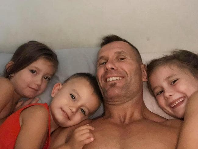 Mr Baxter's recent Facebook posts all revolve around his children. Picture: Facebook