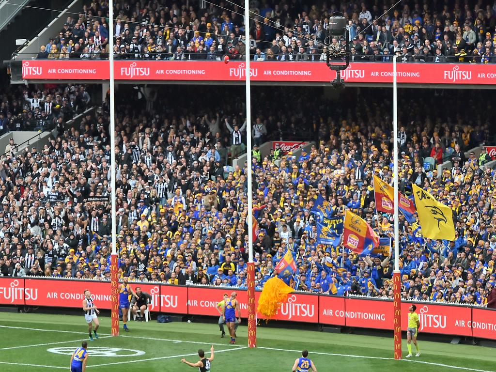 A grand final crowd of at least 30,000 is expected at the Gabba on October 24. Picture: Jason Edwards