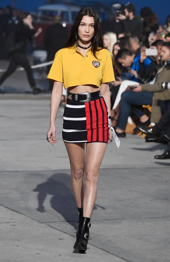 If anyone can pull off canary yello, it's Bella Hadid. Picture: Getty Images