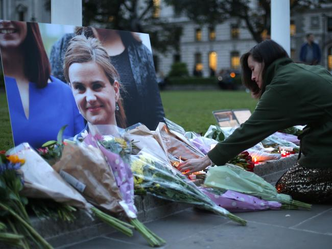 Tributes have been laid in London and Westminster for the slan MP. Picture: AFP/DANIEL LEAL-OLIVAS