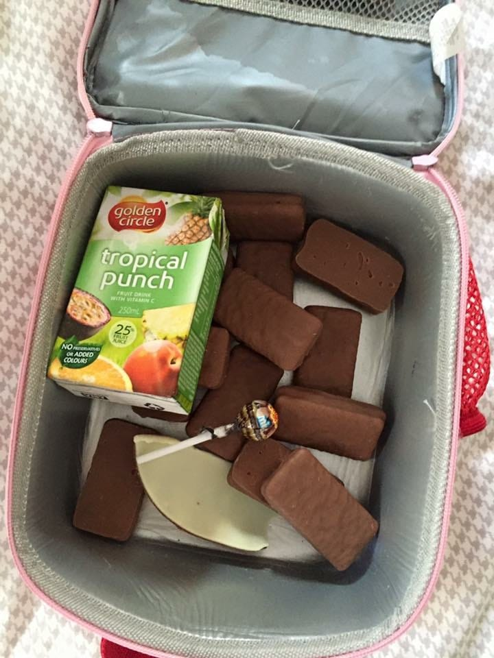That time Alice packed her own lunchbox for school