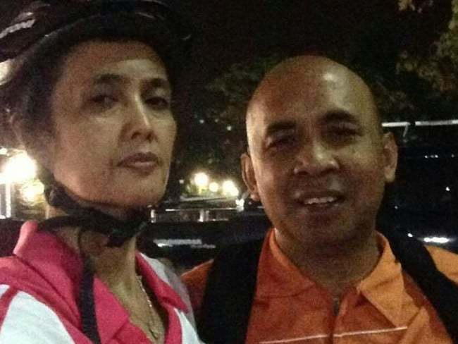 MH370 pilot Capt Zaharie Ahmad Khan with his wife, Faizah Khanum.