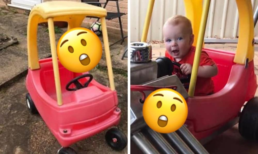 Dad spends three months pimping son's Cozy Coupe