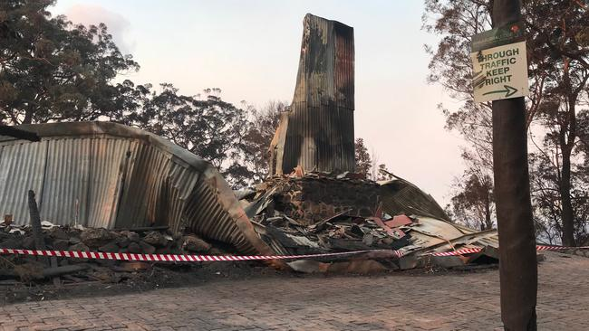 Ruins of Binna Burra Lodge devastated after bushfires in the Gold Coast Hinterland. Picture: Kirstin Payne