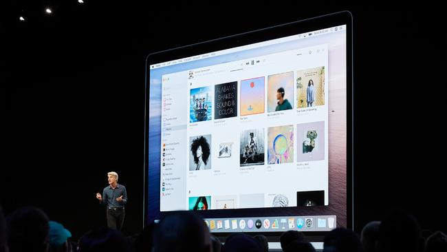 Apple's senior vice president of Software Engineering Craig Federighi previews macOS Catalina at the Apple Worldwide Developers Conference in June.