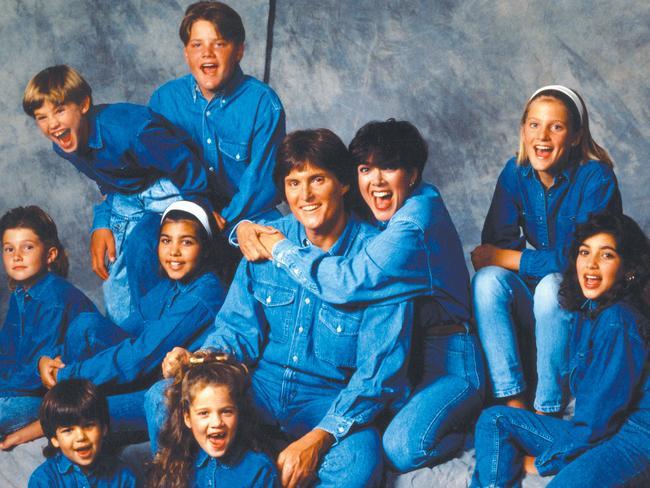 (Middle row, L-R) Brody Jenner, Kourtney Kardashian, Bruce Jenner, Kris Jenner, Cassandra Jenner, Kim Kardashian, (top row, L-R) Brandon Jenner, Burton Jenner,(bottom row, L-R) Robert Kardashian, Jr., Khloe Kardashian of the celebrity Jenner and Kardashian families. Picture: Getty.