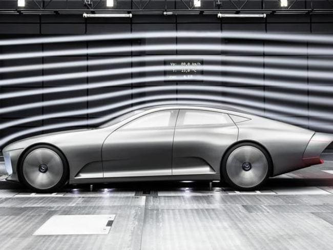 Aerodynamic ... this Mercedes is a long way from becoming a showroom reality. Picture: Supplied