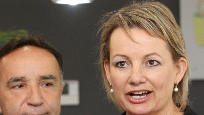 Federal Health Minister Sussan Ley (right) is yet to clarify health department funding for mental health programs. Picture: Ross Marsden / News Corp Australia