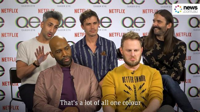 The Queer Eye Fab Five give famous Aussie men a makeover