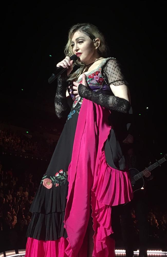The notoriously tardy diva was barely 15 minutes late for the first of two Sydney shows.